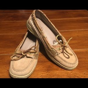 Sperry Top Siders Angel Fish Leather Cork 6